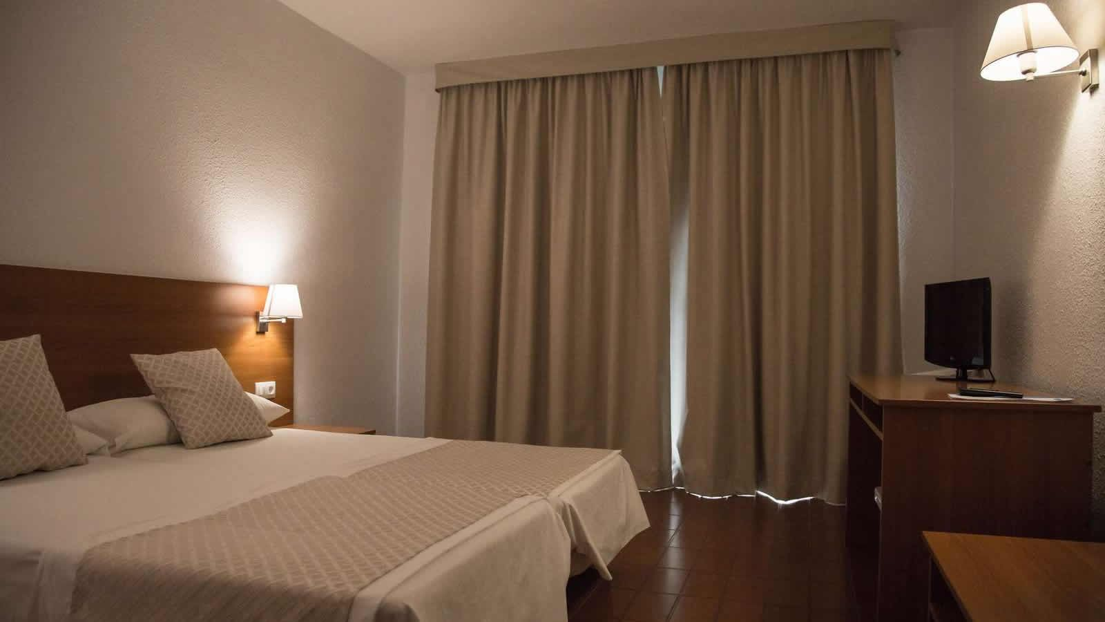 Double room at the Carlos III Hotel in Alcanar - San Carlos de la Rapita – the Ebro Delta