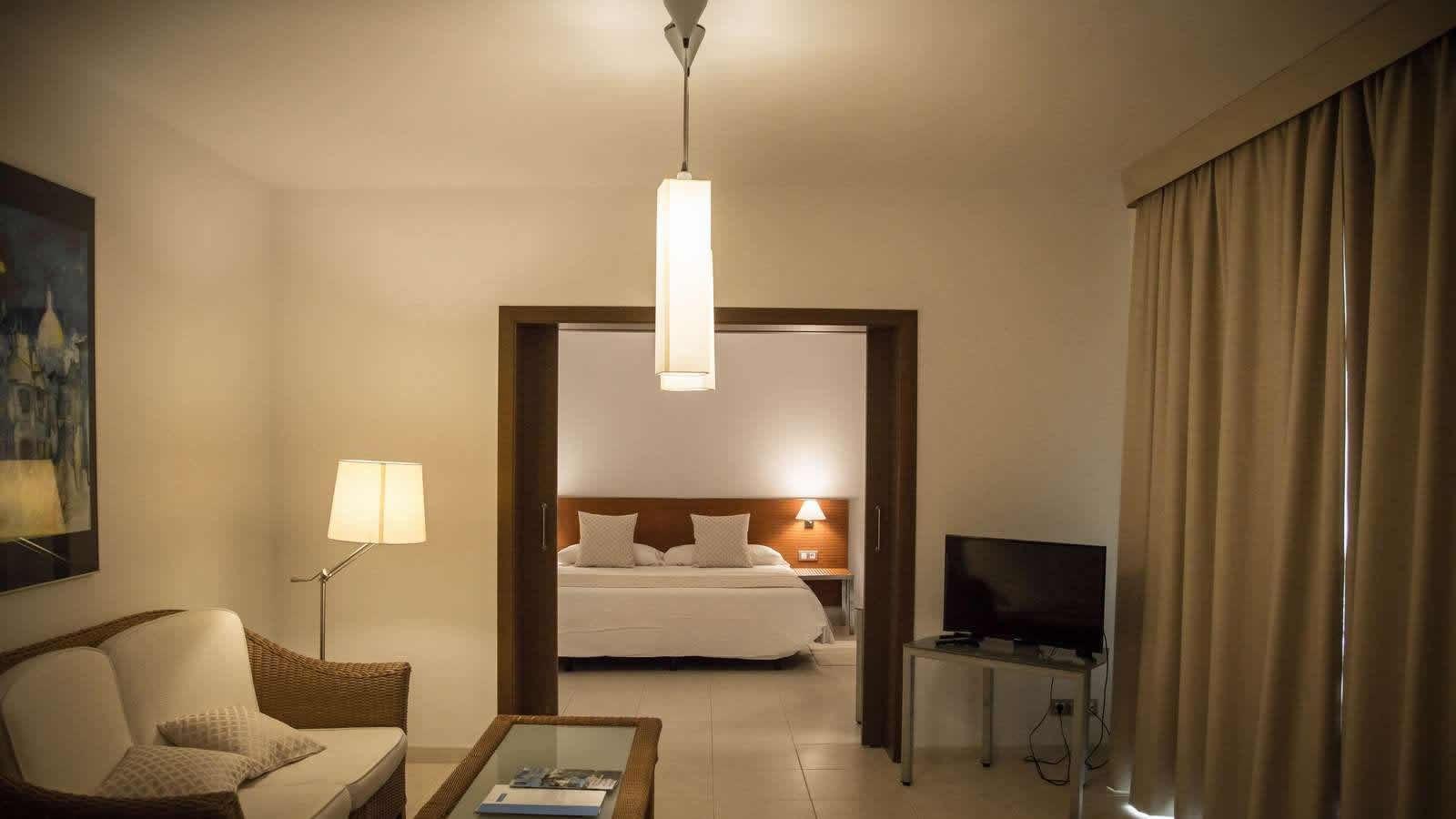 Chambre Suite Delta  de l'Hôtel Carlos Tercero a Alcanar- Saint Carles de la Ràpita- Delta de l'Ebre