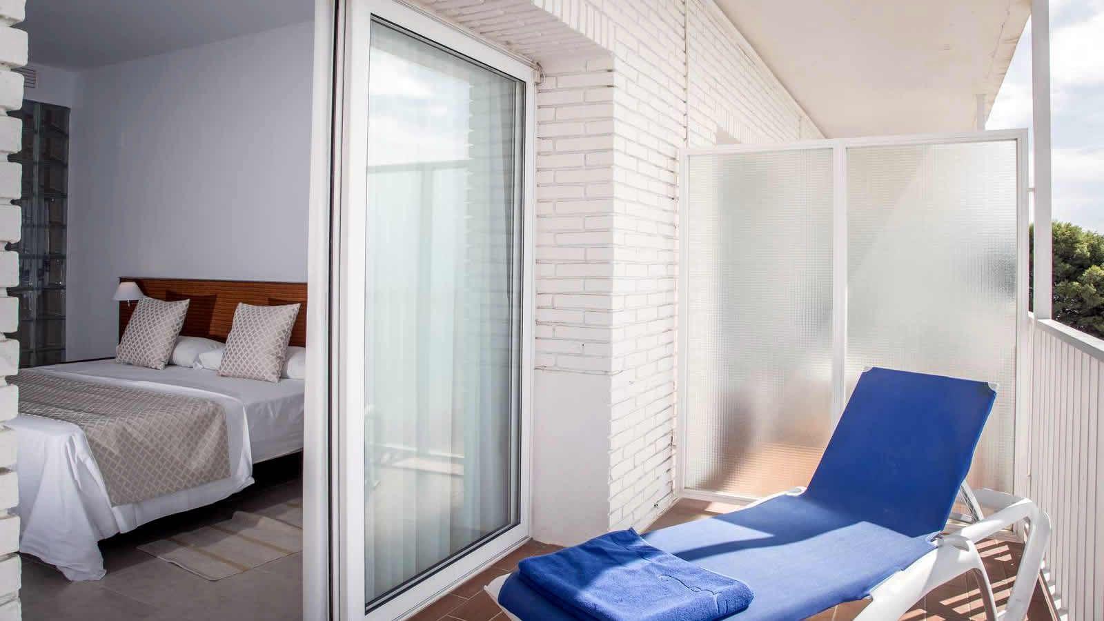 Chambre Suite Delta  de l'Hôtel Carlos III a Alcanar- Saint Carles de la Ràpita- Delta de l'Ebre