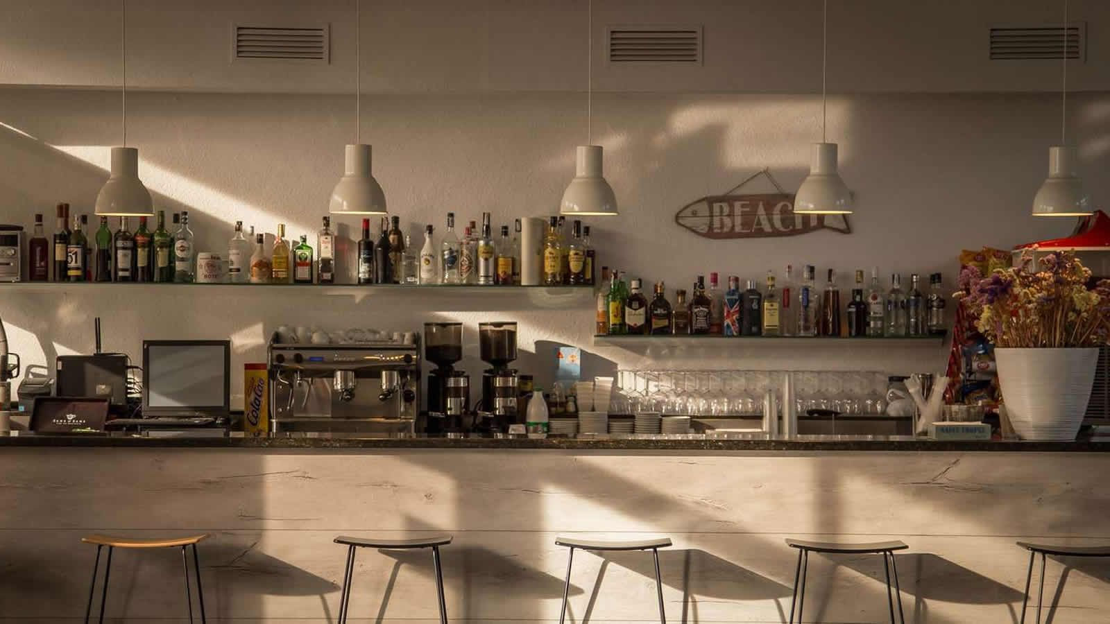 Hotel Bar at the Carlos III Hotel in Alcanar - San Carlos de la Rapita – the Ebro Delta