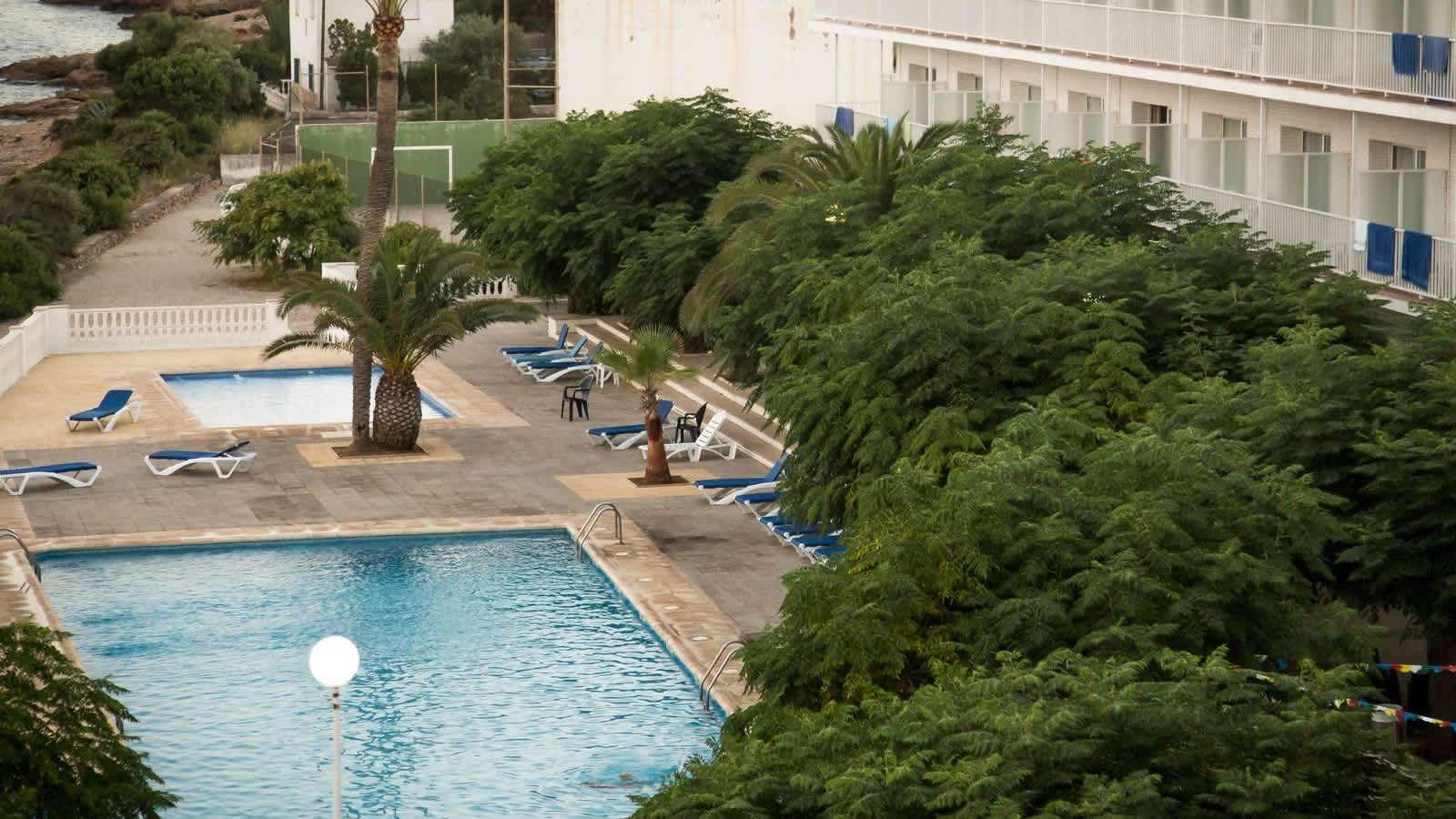 Piscines de l'hotel Sant Carles de la Ràpita, Alcanar, delta de l'Ebre