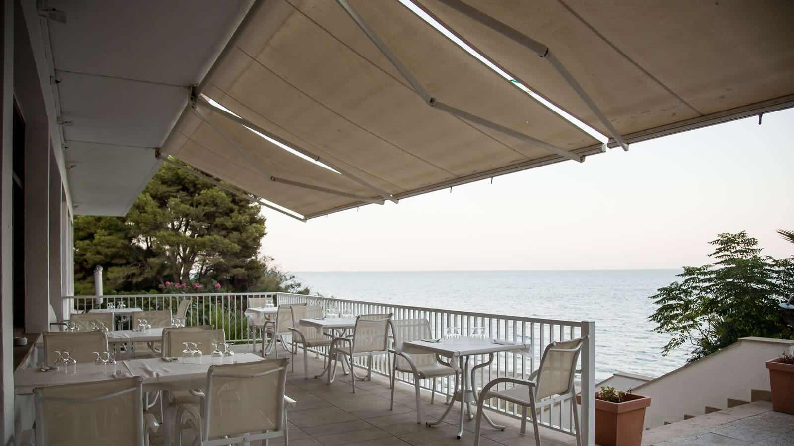 Restaurant Terrace at the Carlos III Hotel-Restaurant in Alcanar - San Carlos de la Rapita – the Ebro Delta
